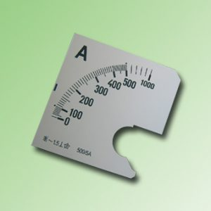 ESCALA AMPERMETRO 0-500Amp.AC 72x72mm