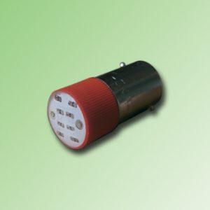 LED BA9S COLOR ROJO 110V AC/DC