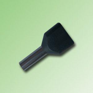 FERRULE AISLADO DOBLE 1,5mm COLOR NEGRO