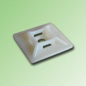BASE PARA AMARRAS PLASTICAS 25x25mm SIN ADHESIVO