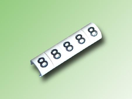 TIRA DE 100 MARCAS TIPO CLIP PARA CABLE 16/14 AWG N°8