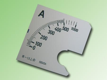ESCALA AMPERMETRO 0-500Amp.AC 96x96mm