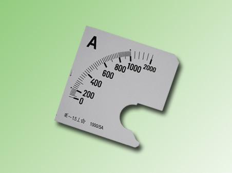 ESCALA AMPERMETRO 0-1000Amp.AC 72x72mm