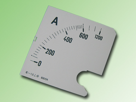 ESCALA AMPERMETRO 0-600Amp.AC 96x96mm