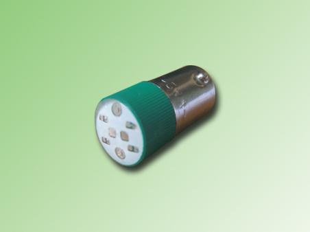 LED BA9S COLOR VERDE 220 VAC/DC.