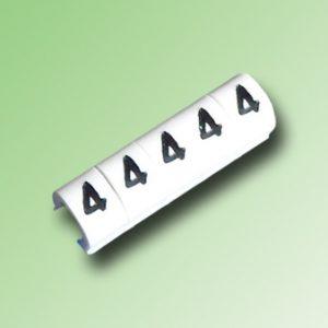 TIRA DE 100 MARCAS TIPO CLIP PARA CABLE 16/14 AWG N°4