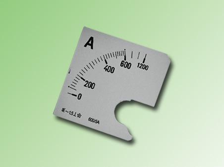 ESCALA AMPERMETRO 0-600Amp.AC 72x72mm