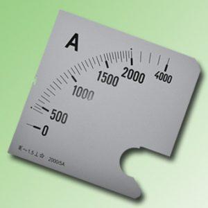 ESCALA AMPERMETRO 0-2000Amp.AC 96x96mm