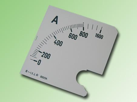 ESCALA AMPERMETRO 0-800Amp.AC 96x96mm