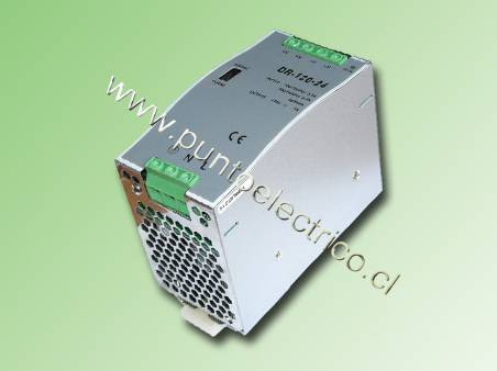 FUENTE DE PODER A RIEL DIN, ENTRADA 200/240VAC SALIDA 24VDC 5.0Amp.