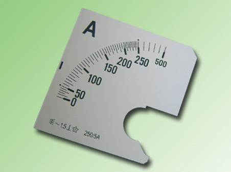 ESCALA AMPERMETRO 0-250Amp.AC 96x96mm