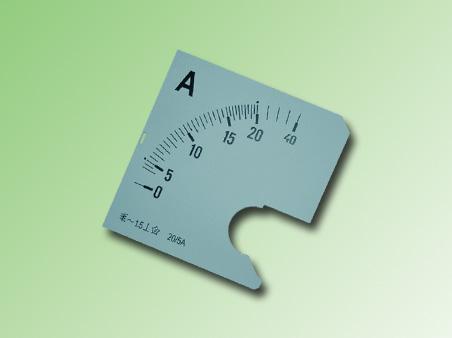 ESCALA AMPERMETRO 0-20Amp.AC 72x72mm