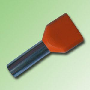 FERRULE AISLADO DOBLE 4,0mm COLOR NARANJA
